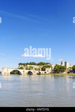 Pont Saint-Bénézet bridge, Avignon, France - Stock Photo
