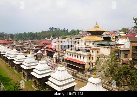 View of Pashupatinath Temple Area,Kathmandu,Nepal - Stock Photo