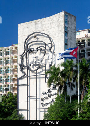 Havana, Cuba - 3 November 2015: National monument of Ernesto Che Guevara at the Plaza de la Revolucion (Square of - Stock Photo