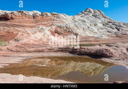 White Pocket, Unique formation of Rock Desert in Arizona - Stock Photo