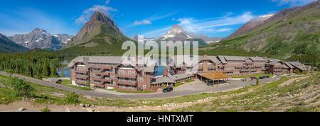 Historic architecture, Many Glacier Hotel in Glacier National Park