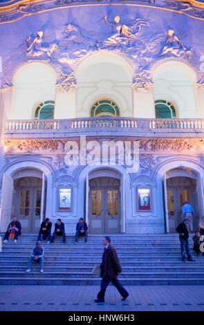 Tunisia: City of Tunis.Municipal Theatre, in Habib Bourguiba Avenue - Stock Photo
