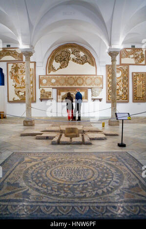 Tunisia: City of Tunis.Bardo National Museum.Roman mosaics - Stock Photo