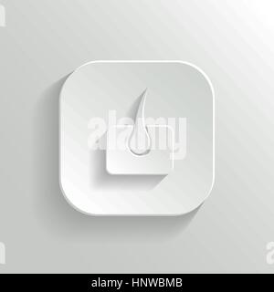 Skin icon - vector white app button with shadow - Stock Photo