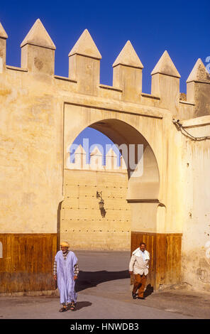 Gate of Gran Rue de Fes El Jedid, Fez, Morocco, Africa. - Stock Photo