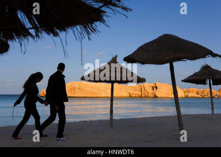Tunez: Monastir.Beach - Stock Photo