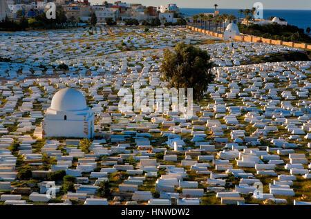 Tunez: Monastir.Cemetary Sidi el Mazeri - Stock Photo