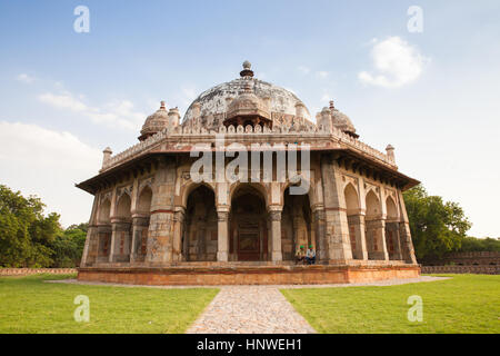 Delhi, India - 19 September, 2014:  Isa Khan Niyazi's Tomb, one of the buildings of Humayun's Tomb, Complex on 19 - Stock Photo