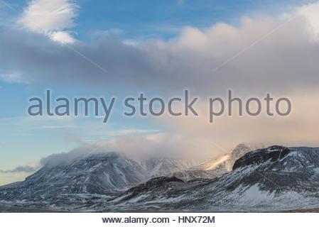 Mountains, Mosfellsheidi, Iceland - Stock Photo
