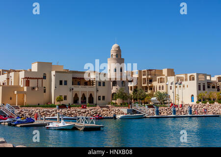 Boats in Tala Bay, Aqaba, Jordan - Stock Photo