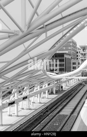 Denver, Colorado, USA-June 11, 2016. Renovated Union Station in Downtown Denver, Colorado. - Stock Photo