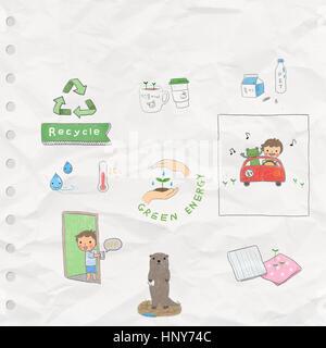 Illustration representing environmental protection - Stock Photo