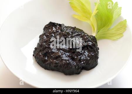 Fermented blacksoybean sauce (Douchi) - Stock Photo