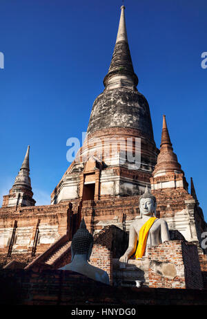 Big Buddha statue in Wat Yai Chai Mongkol monastery in Ayuttaya, Thailand - Stock Photo