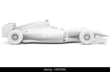 Formula race red car designed by myself. 3D illustration - Stock Photo