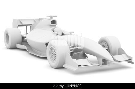 Formula race red car designed by myself. 3D illustration