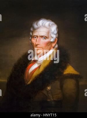 Daniel Boone (1734-1820), portrait by Chester Harding, oil on canvas, 1820. Daniel Boone was a famous American pioneer - Stock Photo