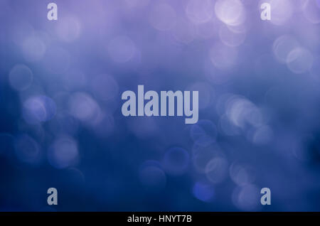 Blurred Bokeh Lights Blue - Abstract Background - Stock Photo