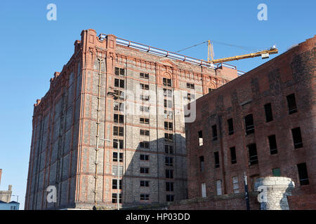 stanley dock tobacco warehouse liverpool's heritage market  uk the worlds largest brick warehouse currently undergoing - Stock Photo