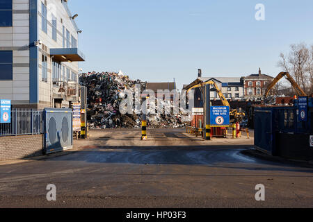 entrance and weighbridge for metal recycling plant liverpool uk - Stock Photo