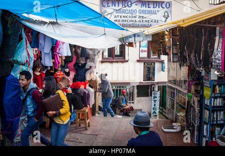 Gremial market, Potosi, Bolivia - Stock Photo