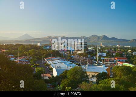 Managua, Nicaragua - January 5, 2017: Managua city at day time, panorama view - Stock Photo