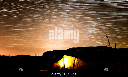 Camping under the stars - Stock Photo