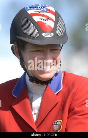 CSIO Masters, Spruce Meadows, September 2005, portrait of Beezie Madden (USA) - Stock Photo