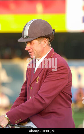CSIO Masters, Spruce Meadows, September 2003, portrait of Nick Skelton (GBR) - Stock Photo