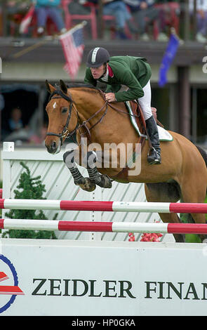 The National Spruce Meadows,  June 2001, Zeidler FInancial Cup - Stock Photo