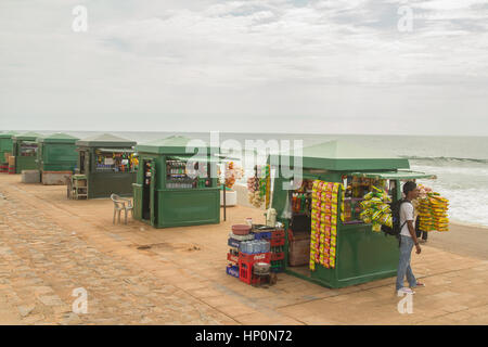 Colombo, SRI LANKA - NOVEMBER 25: beach food stalls at Galle Face beach in Colombo Sri Lanka on 25 November 2013. - Stock Photo