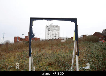 Brownfield land in Stoke-on-Trent, Staffordshire. UK. 17th February 2017. - Stock Photo