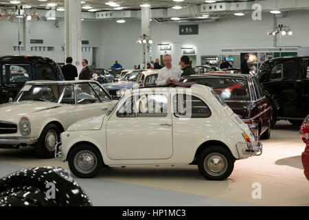 Olympia, London, UK. 17th Feb, 2017. Historic automobile fair and auction preview day. Historic ultra-luxury cars - Stock Photo