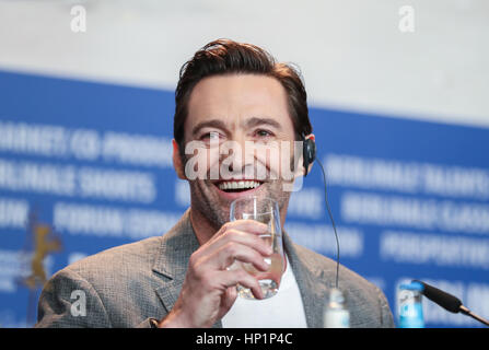 Berlin, Germany. 17th Feb, 2017. Actor Hugh Jackman attends a press conference for the film 'Logan' during the 67th - Stock Photo