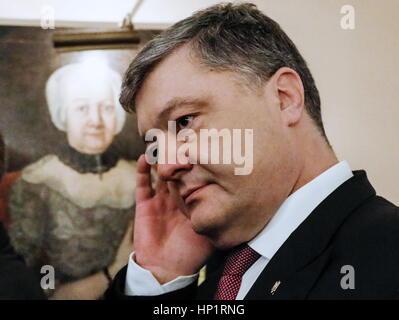 Munich, Germany. 18th Feb, 2017. Ukraine's President Petro Poroshenko attends the 53rd Munich Security Conference. - Stock Photo