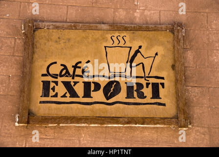 Schild Cafe Export, Chile, Suedmaerika - shield Cafe Export, Chile, South America - Stock Photo