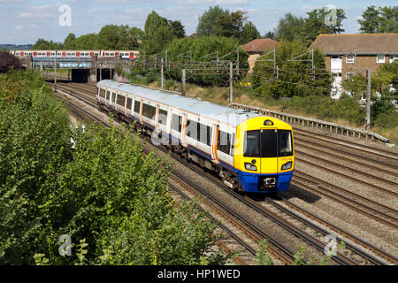 Class 378 Capitalstar electric multiple unit operated by London Overground passing South Kenton in north London. - Stock Photo