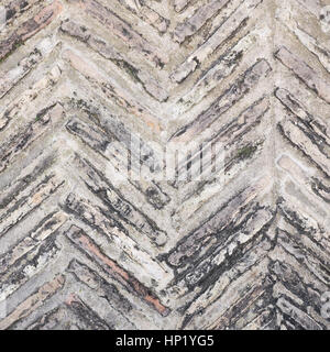 stones patterned in fishbone design to use as background - Stock Photo