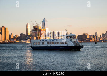 New  Jersey ferry with new york view - Stock Photo