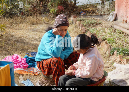 Orphanage life in Nepal - Stock Photo