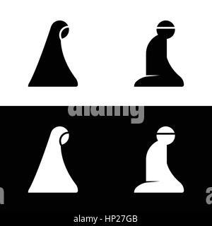 Islamic Prayer Room Area Sign Symbol Logo Icon Vector Illustration - Stock Photo