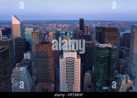 Skyline of Manhattan. Midtown East.New York City, USA - Stock Photo