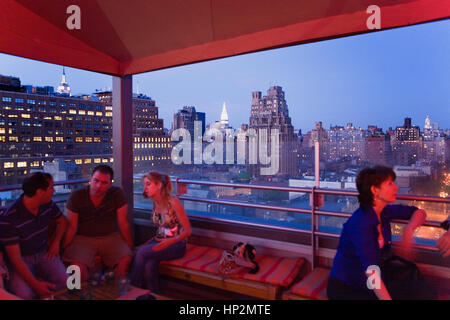 Meatpacking District. G-Lounge, Bar, restaurant ( on the roof of the Hotel Gansevoort). 18 Ninth Av at 13th,New - Stock Photo