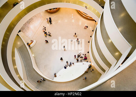Guggenheim Museum, Interior View,New York City, USA - Stock Photo