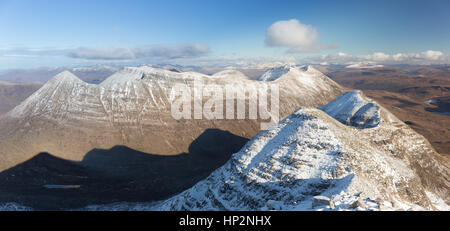 Beinn Eighe from Liathach, Torridon, Wester Ross - Stock Photo