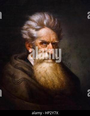 John Brown, Abolitionist. Portrait by Ole Peter Hansen Balling, oil on canvas, 1872. - Stock Photo