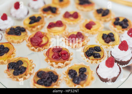 Fine dishes on the buffet table wedding - Stock Photo