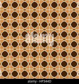Traditional Islamic geometric lattice pattern based on overlapping dodecagon - seamless editable repeating vector - Stock Photo