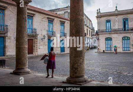 Cathedral square, Old Havana, Habana Vieja, La Habana, Cuba - Stock Photo