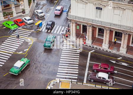 View of Paseo Marti or Paseo Prado, La Habana Vieja district, La Habana, Cuba - Stock Photo